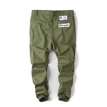 Champion Tide brand embroidered men's trousers, hips, jogging, Harlan casual pants green