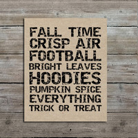 PRINTABLE 8x10 Fall Burlap Print, Instant Digital Download, Decor, Art