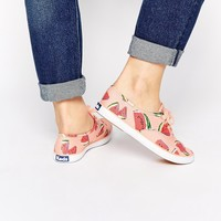 Keds Champion Watermelon Print Plimsoll Trainers