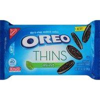 Nabisco Oreo Thins Mint Creme Chocolate Sandwich Cookies, 10.1 oz - Walmart.com
