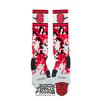 Custom Nike Elite Socks - NC State Wolfpack Custom Nike Elites - NC State Socks, Custom Elites, North Carolina State, Wolfpack Socks