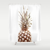 pineapple Shower Curtain by ARTbyJWP