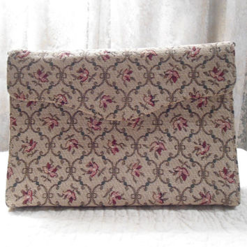 Vintage Tapestry Purse Gold Double Chain Shabby Chic Wedding  Victorian Art Nouveau Shabby Chic Art Deco Victorian Wedding Clutch Hand Bag