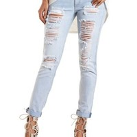 "Refuge ""Boyfriend"" Destroyed Light Wash Jeans"