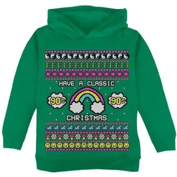 ONETOW Retro 90s Nostalgia Classic Ugly Christmas Sweater Toddler Hoodie