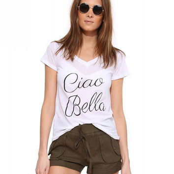 Ciao Bella Print Short Sleeve Graphic Tee