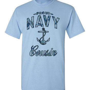 Proud Navy Cousin T-Shirt (Camo)