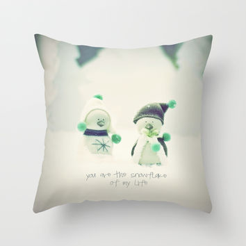 *** You are the snowflake of my life *** Throw Pillow by SUNLIGHT STUDIOS  Monika Strigel