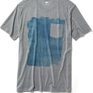 Old Navy Abstract Graphic Pocket Tee For Men
