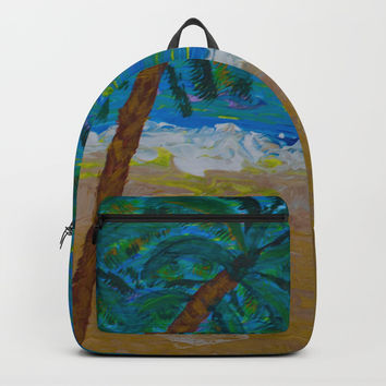 Tropical Beach Backpacks by Scott Hervieux