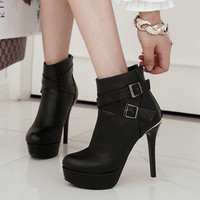 Thin Heels Platform Boots | Women's Ankle Boots