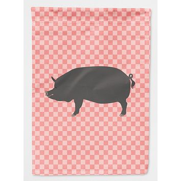 Berkshire Pig Pink Check Flag Canvas House Size BB7933CHF