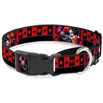 "Buckle-Down ""HARLEY QUINN Bomb Poses Suits"" Martingale Dog Collar"