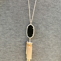Long Tassel Necklace - Multiple Colors