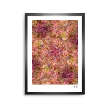 "Justyna Jaszke ""Mandala Roses"" Multicolor Orange Abstract Pattern Digital Mixed Media Framed Art Print"