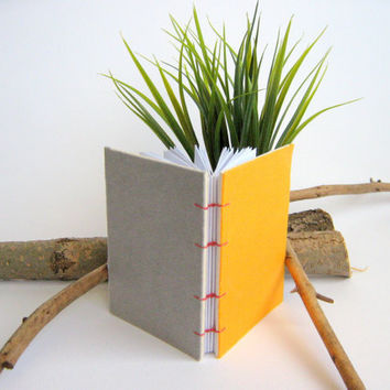 ExiArts pocket journal with coptic stitch binding,blank hardcover book,handcrafted small notebooks journal,120 blank pages, 3 x 4 inches