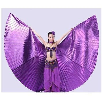 VONFC9 New Egypt Belly Wings Dancing Costume Belly Dance accessories No Sticks Fashion Jecksion #LSN