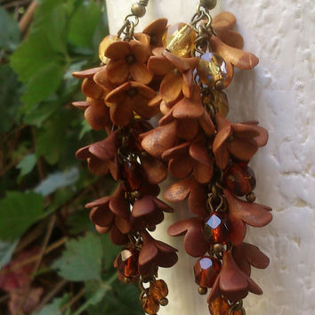 Ombré - Handmade jewelry set - Fall necklace, earrings, ring