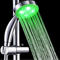 High Quality Handheld 7 Color LED Romantic Light Water Bath Home Bathroom Shower Head Glow Bathing Accessories HD0052