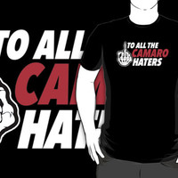 Cool Skeleton Middle Finger 'To All The Camaro Haters' T-Shirt and Accessories