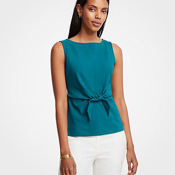 Tie Front Shell | Ann Taylor