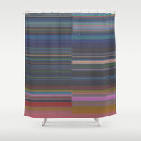scanner stripes Shower Curtain by duckyb