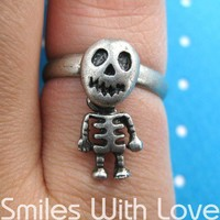 Dotoly | Adjustable Skeleton Ring in Silver - The Body Moves | Online Store Powered by Storenvy