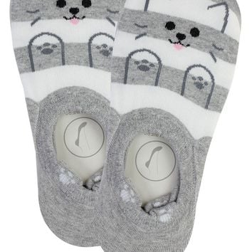 Ladies cat print stripe socks