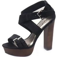 Women's Qupid Enclose-05 Nubuck Strappy Sandals Fashion Shoes