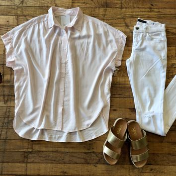 Somerset Top in Pink Stripes