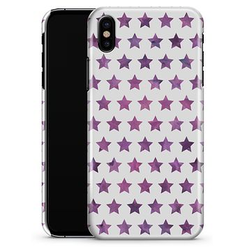 The Purple Grunge All Over Stars  - iPhone X Clipit Case