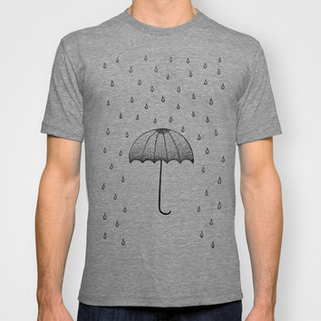 In The Rain T-shirt by Cinema4design
