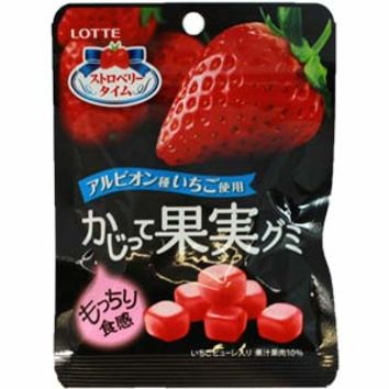Lotte Kajitte Kajitsu Gummy -- Strawberry