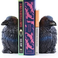 Nevermore Raven Bookends