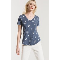 Z Supply The Distressed Star V-Neck Tee