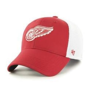 NHL Detroit Red Wings Back Pedal Contender Stretch Fit Hat