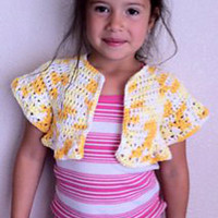 CROCHET PATTERN Shrug INSTANT Download / Girls cardigan crochet pattern / Girls shrug crochet pattern instant download / spring clothing