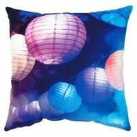 Lanterns Throw Pillow 16x16