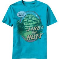 Star Wars Jabba The Hutt Mind Powers Vintage Style Movie Adult T-Shirt Tee 2Bhip