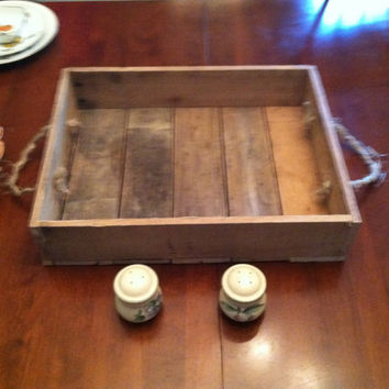 Primitive Tray, Rustic Tray, Colonial Tray, Primitive Carrying Tray, Handmade Wooden Tray, Primitive Reclaimed Tray
