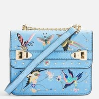 Bird Embroidered Cross Body Bag | Topshop