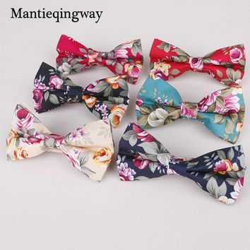 Mantieqingway Bowtie Male Formal Necktie Boys Neckwear Men's Fashion Business Wedding Bow Ties for Men Floral Printed Gravatas