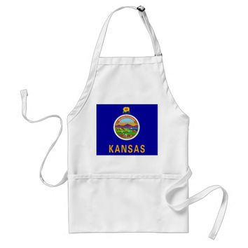 Apron with Flag of Kansas, U.S.A.