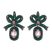 Gucci Crystal embroidered bow earrings