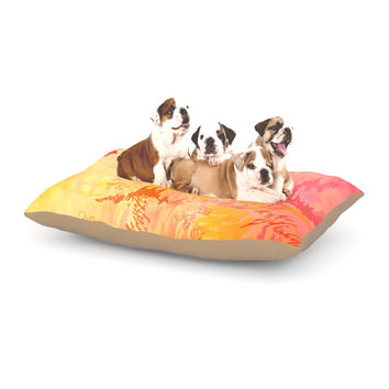 "Ebi Emporium ""Sky Risers II"" Pink Yellow Dog Bed"