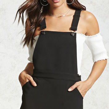 Square-Neck Overall Dress