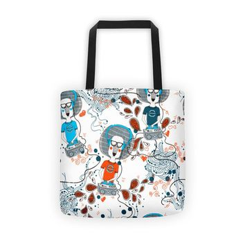 DJ Gifts - VINYL RECORDS Tote Bag - Vinyl Record Tote Bag - Deejay - Music Lovers - Vinyl Collectors - Great Gift!