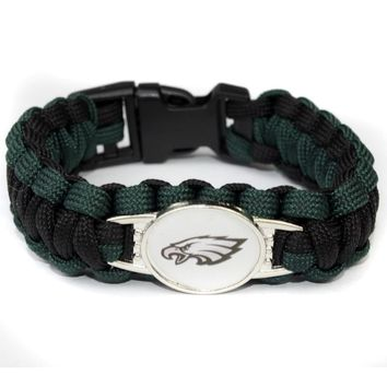 Philadelphia Eagles Paracord Bracelet  American Football Team Umbrella Braided Bracelet Football Fans Gift 10pcs/lot