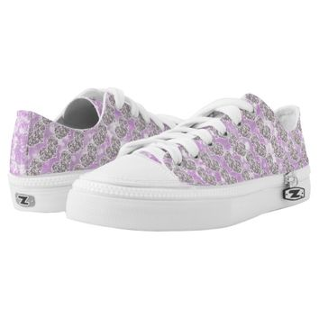 Purple Glamour Love Printed Shoes