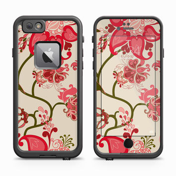 Pink and Red Flower Wallpaper Skin for the Apple iPhone LifeProof Fre Case